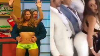 TV sluts being groped and encoxada on LIVE