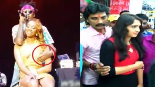 Mix ⭐ Gropes famous girls in front of everyone