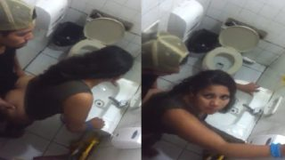 Caught with delicious chubby girl in the nightclub bathroom