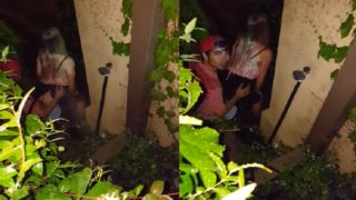 Blonde drunk girl fucked in the corner of the party